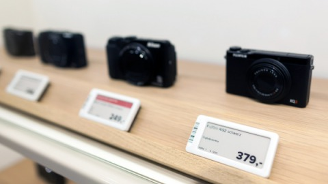 Consumer electronics store with electronic shelf labels from Delfi Technologies