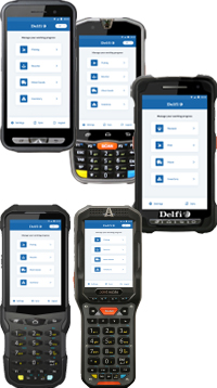 Delfi PM pda with Android software