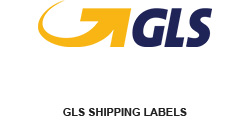 Shipping label for GLS