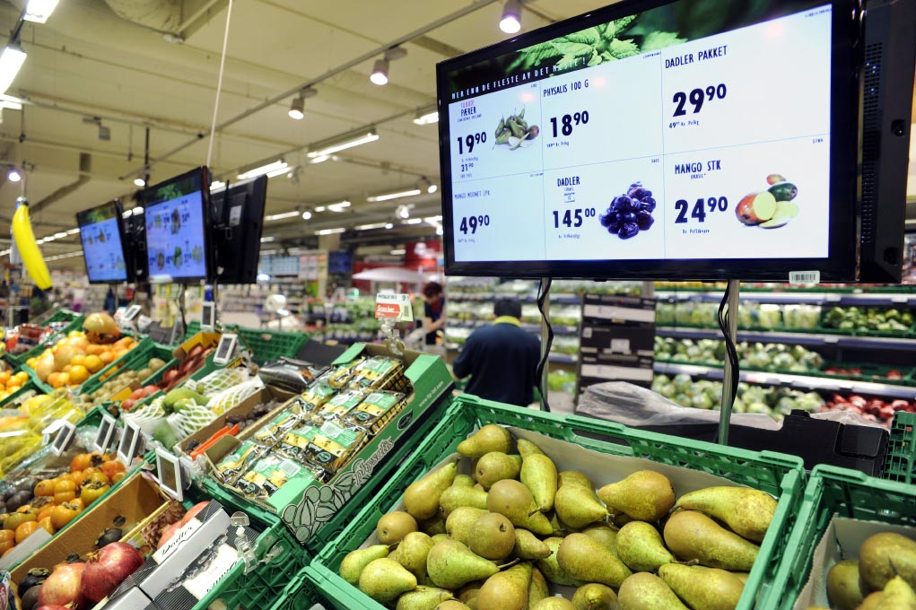 Digital signage supermarket
