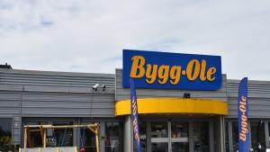 Elektroniske hyldeforkanter hos Bygg-Ole Nacka