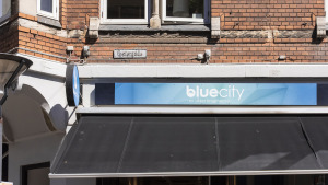 Outside of Blue City in Odense