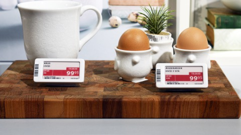 Omni channel stores with electronic shelf labels