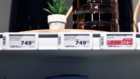 Electronic shelf labels at Imerco