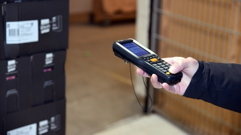 Barcodescanner at The Danish Food Bank