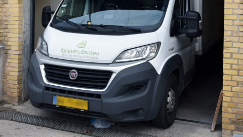 Transportvogn hos FødevareBanken