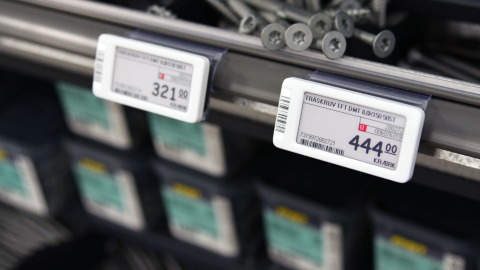 DIY store with electronic price tags
