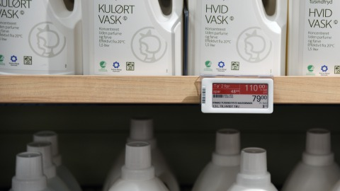 Electronic Shelf Labels at Irma in Køge