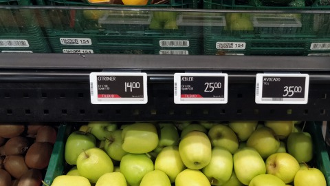 Electronic shelf labels at Pisiffik Greenland