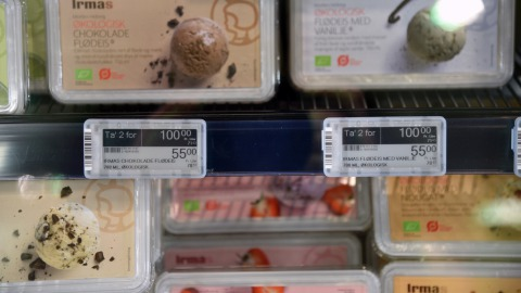 Electronic Shelf Labels at frost