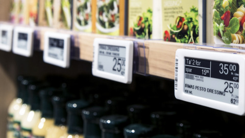 Fully graphic electronic shelf labels