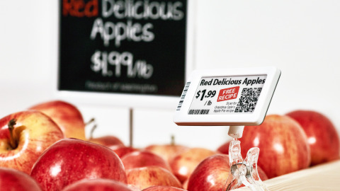 The market leading fully graphic electronic shelf labels
