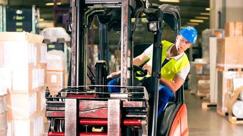 Truck scanner warehouse