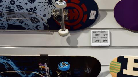 SkatePro tænker ud af boksen med elektroniske hyldeforkanter