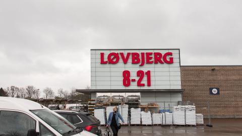 Facade hos en Løvbjerg butik