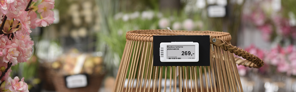 Electronic Shelf Labels at garden center